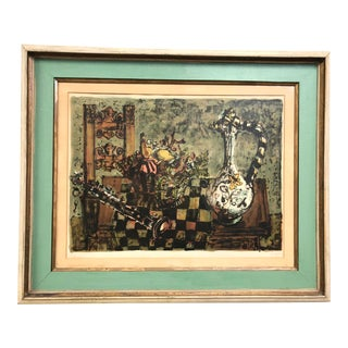 Vintage Paul Aizpiri Hand Signed and Numbered Framed Lithograph For Sale