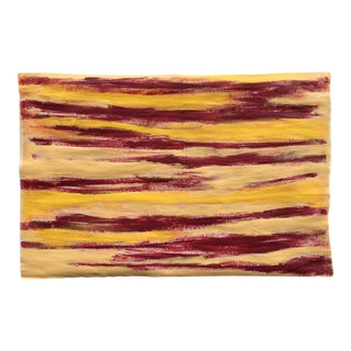 Suga Lane Abstract Red & Yellow Streak Painting