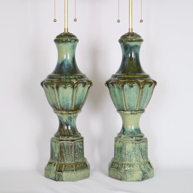 Lustre-Glaze Porcelain Baluster Lamps - A Pair - Image 2 of 4