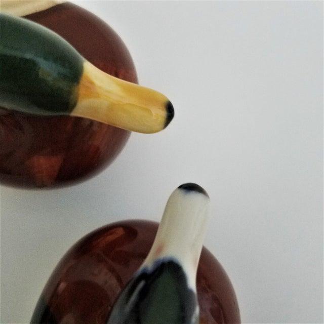 Ceramic Vintage Ceramic Duck Vessels - A Pair For Sale - Image 7 of 9