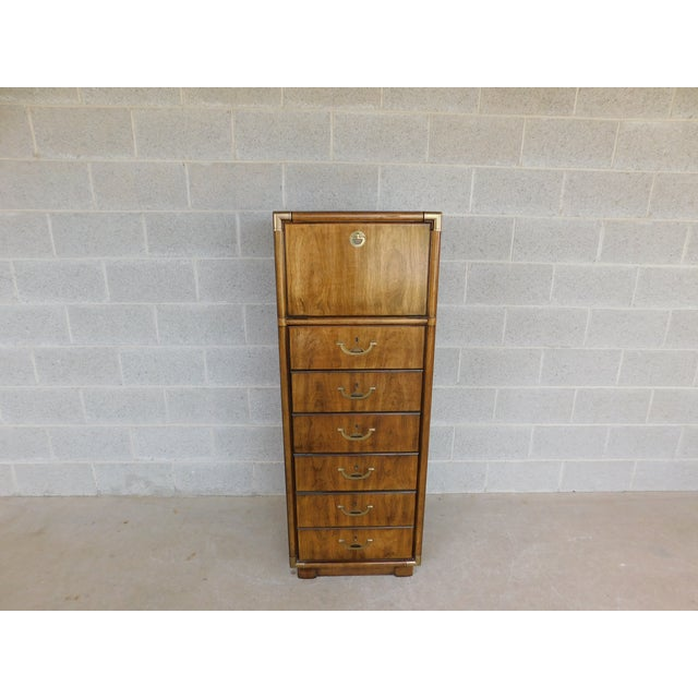 Campaign Drexel Accolade Campaign Style 6 Drawer Lingerie Chest 905-400 For Sale - Image 3 of 13
