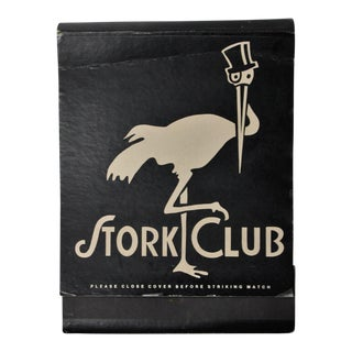 Jumbo Stork Club Matchbook For Sale