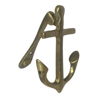 Anchor Nautical Brass Doorknocker For Sale