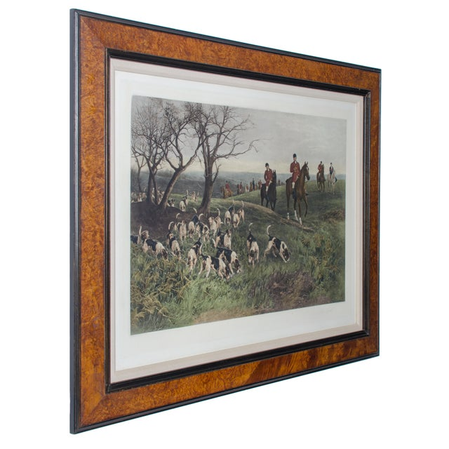 "Offered is a framed print entitled ""Lost Scent"" after the painting by Heywood Hardy(1842-1933), a British artist known for..."
