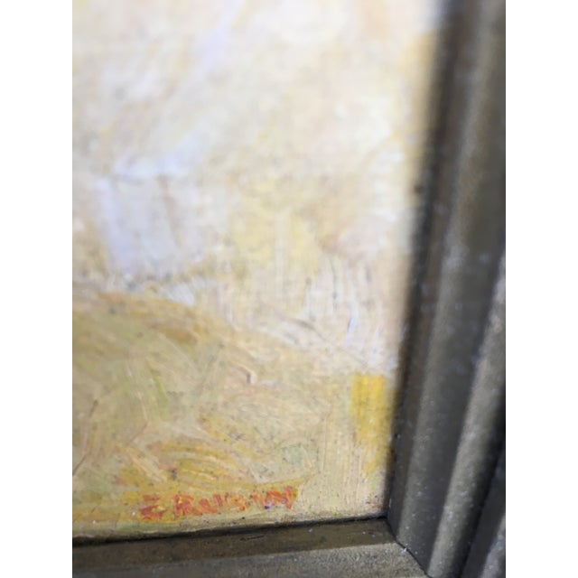 Mid-Century Floral Abstract Original Painting - Image 3 of 6