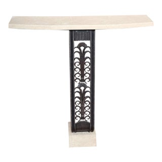Modern Art Deco Style Console in the Mannerof Brandt For Sale