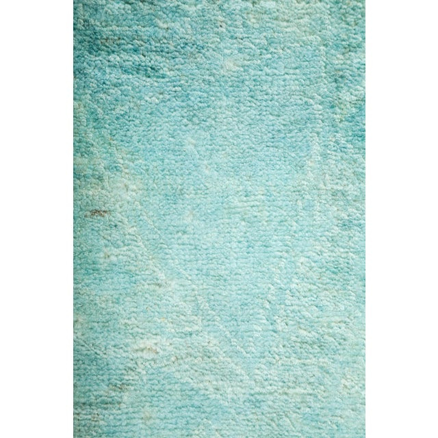 """Overdyed Hand Knotted Area Rug - 3'1"""" X 4'10"""" - Image 3 of 3"""
