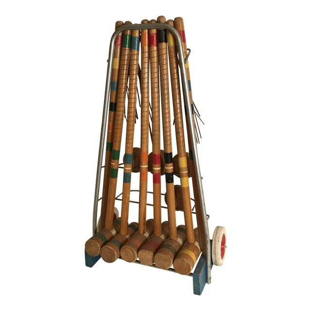 1950's Croquet Game Set For Sale