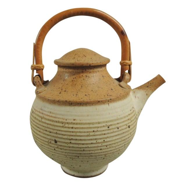 Vintage Art Pottery Ceramic Teapot - Image 1 of 4