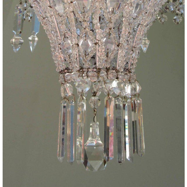 Early 20th Century Italian Neoclassical Crystal and Tole Chandelier For Sale In Charleston - Image 6 of 8