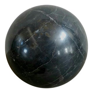 Italian Marble Sphere Sculpture Decor For Sale