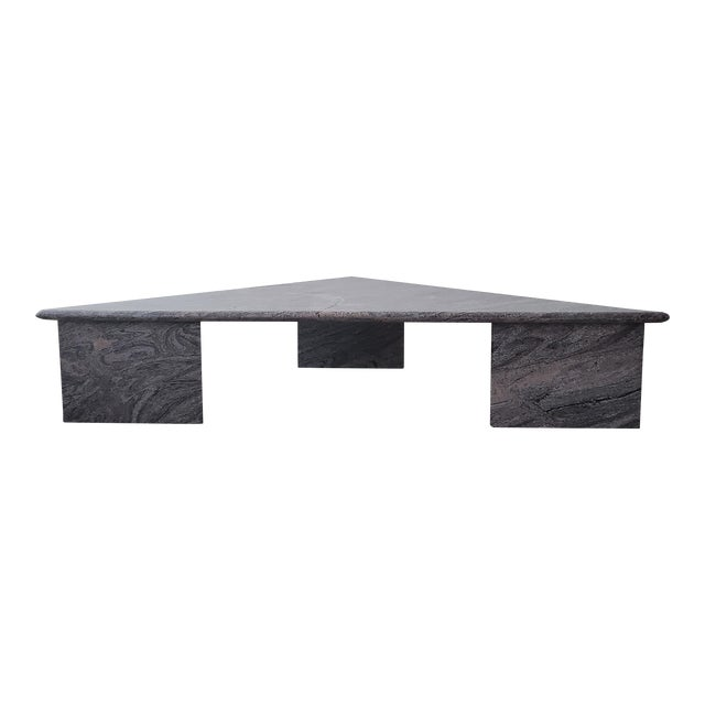 Post Modern Trianglular Coffee Table For Sale