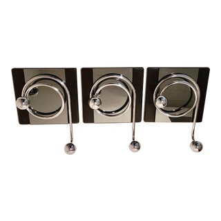 Vintage Italian Coat Racks by Willy Rizzo, 1970s, Set of 3 For Sale