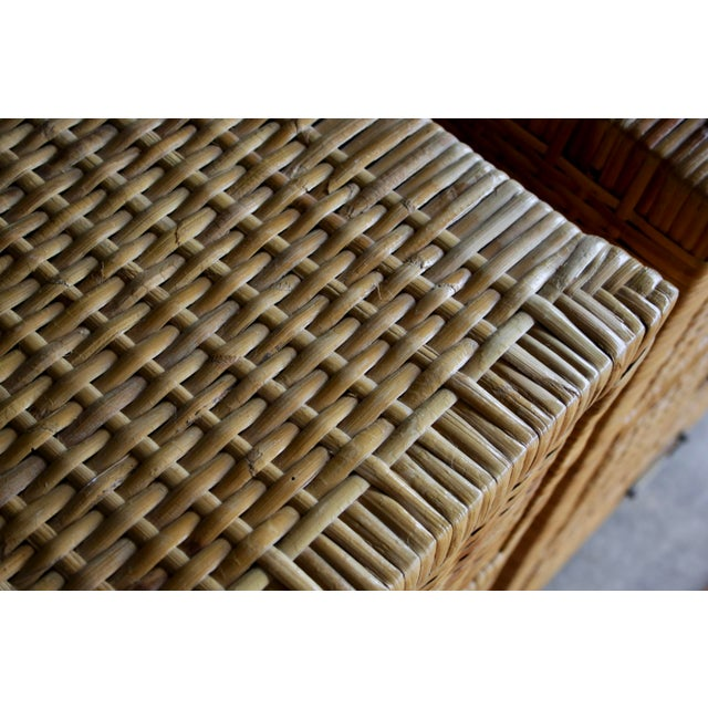 Lacquered Rattan Bachelor Chest (Pair Available) For Sale - Image 10 of 13