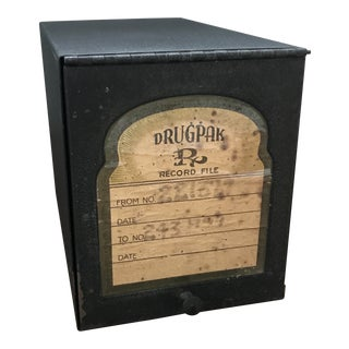 20th Century Americana Metal Pharmacy Box For Sale