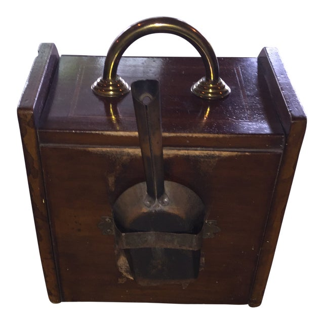 Mahogany Coal Bin For Sale