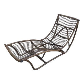 Modern Rattan Chaise Lounge For Sale