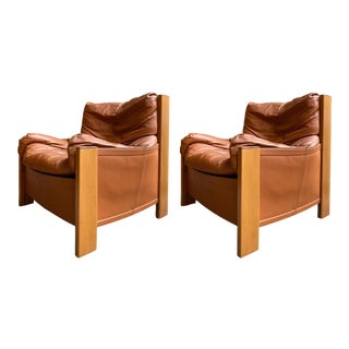 Pair of Armchairs Bergere by Afra Tobia Scarpa for Maxalto. Italy, 1970s For Sale