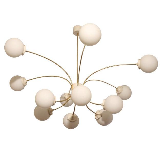Italian Design 12 Palle Chandelier For Sale