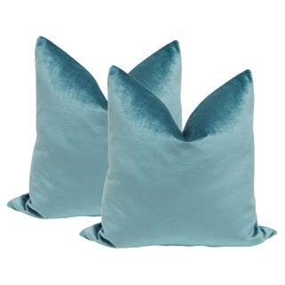 """22"""" Caribbean Luxe Velvet Pillows - a Pair"""