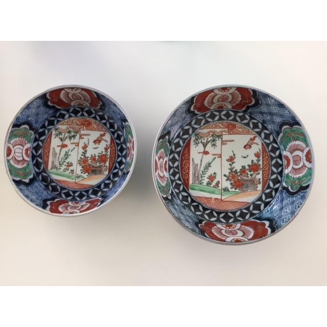 Antique 1835 Japanese Imari Porcelain Colored Bowls - a Pair For Sale - Image 13 of 13