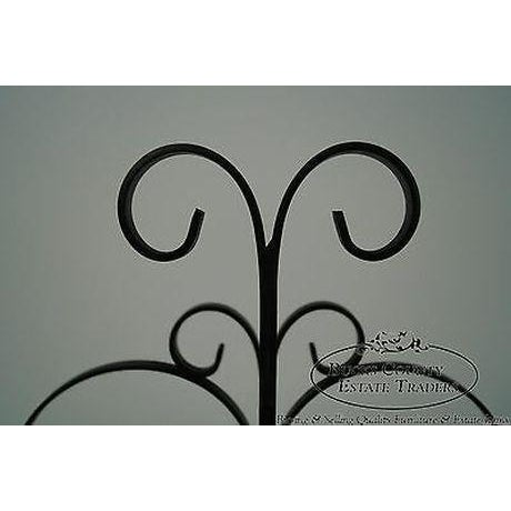Wood Custom Ornate Scrolled Wrought Iron Spanish Style Magazine Stand For Sale - Image 7 of 13