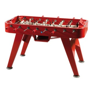 RS Barcelona Stainless Steel Foosball Table, Red For Sale
