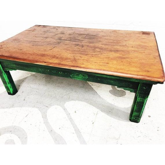 Vintage Mexican Pine Coffee Table