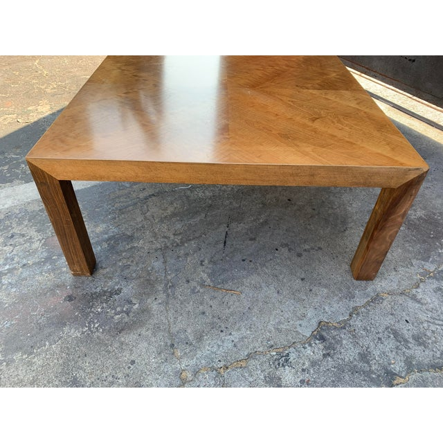 Mid-Century Modern Mid Century Modern Parquet Wood Coffee Table For Sale - Image 3 of 11