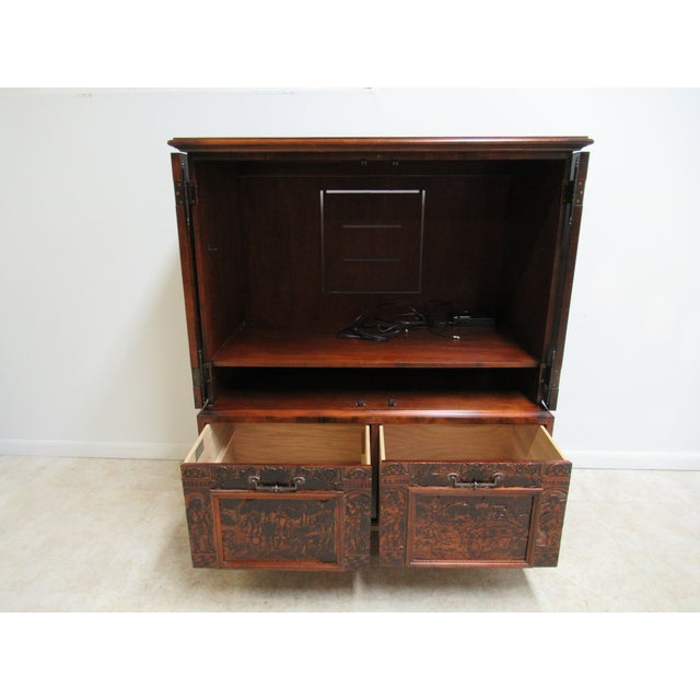 Brown Hickory Chair Thomas O'Brien Collection Armoire For Sale - Image 8 of 13