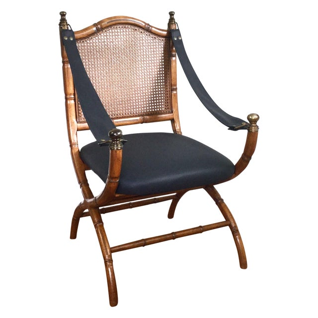 Drexel Faux Bamboo & Cane Chair For Sale