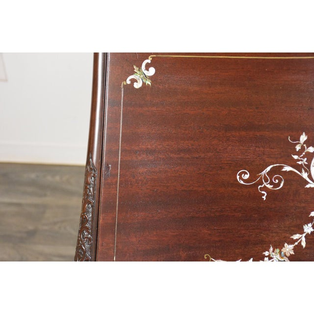 Metal r.j. Horner Mahogany Secretary Desk For Sale - Image 7 of 12