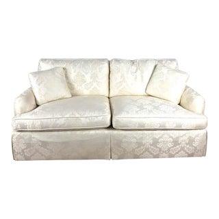 Baker Furniture Vintage White Upholstered Two-Cushion Sofa