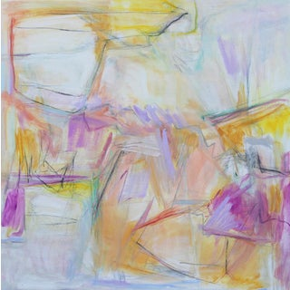 """Desert Dawn"" by Trixie Pitts Large Abstract Expressionist Oil Painting For Sale"