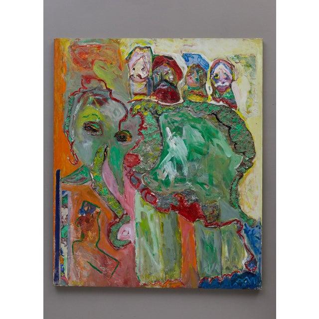 Wyona Diskin Wyona Diskin, Elephant Painting For Sale - Image 4 of 12