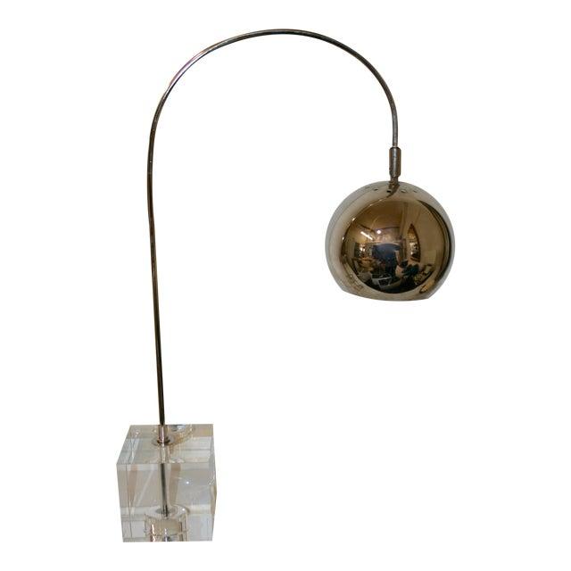 Crystal Base Task Lamp For Sale