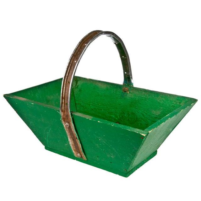 Vintage French Green Gardening Trug - Image 2 of 6