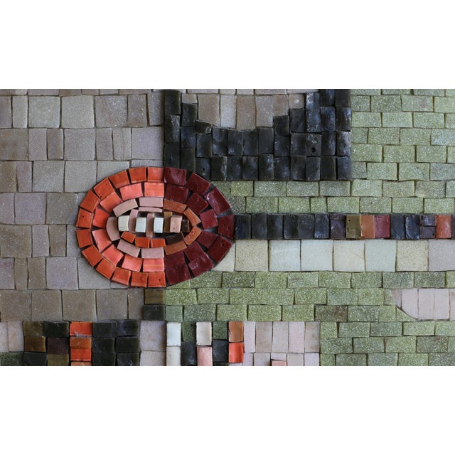 Glass mosaic relief panel by San Diego artist, Phyllis Wallen (1909–2000). Includes artist and allied craftsmen of San...