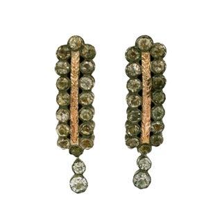 Georgian Style Paste Earrrings For Sale