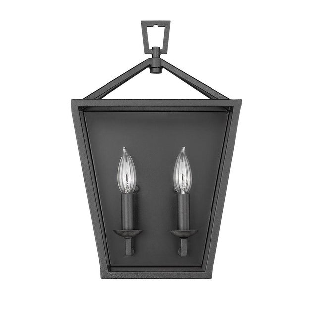 Metal Ponce City 2 Light Sconce, Forged Black For Sale - Image 7 of 8