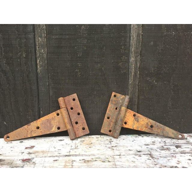 Country Antique Barn Door Hinges For Sale - Image 3 of 7