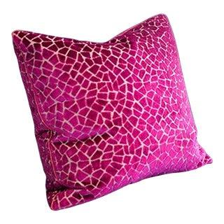 Large Fuchsia Velvet Pillow Cover For Sale