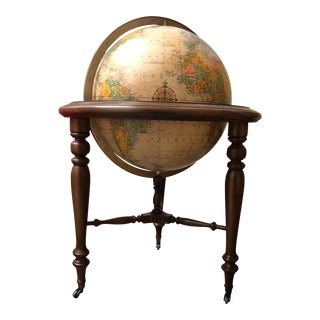 20th Century , Mid-Century Americana Replogle Illuminated Floorstanding Globe
