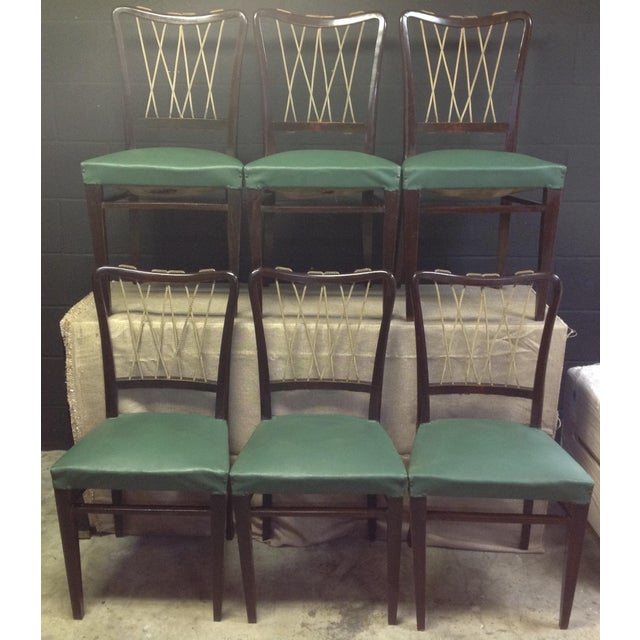 Mid-Century Italian Rope Back Dining Chairs - Set of 6 - Image 3 of 11