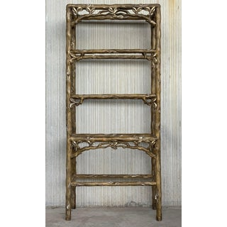 Mid Century Five Shelves Painted Etagere in Solid Wood Featuring a Three Preview