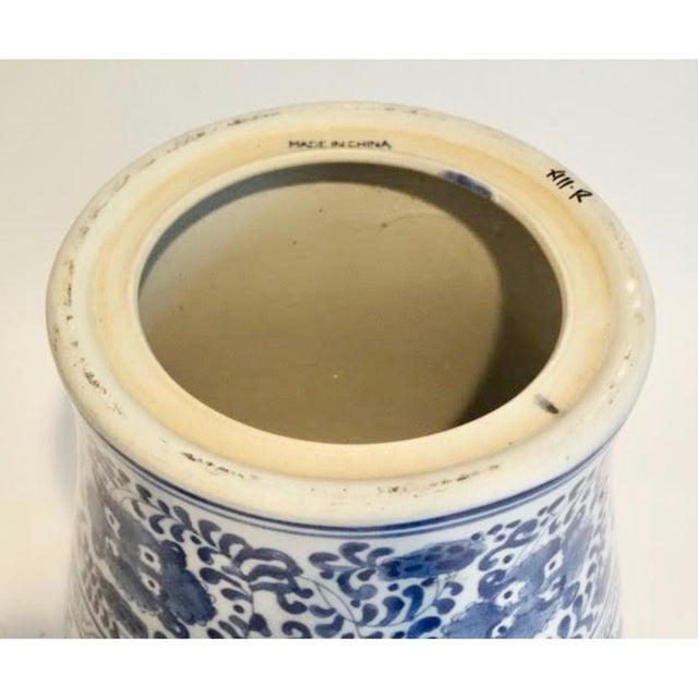 Ceramic Blue and White Ceramic Garden Stool For Sale - Image 7 of 9