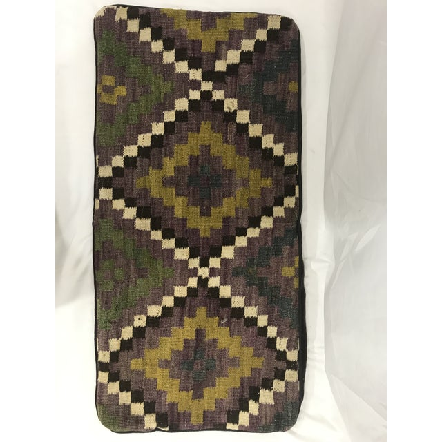Boho Chic Vintage Kilim King Size Pillow For Sale - Image 3 of 3