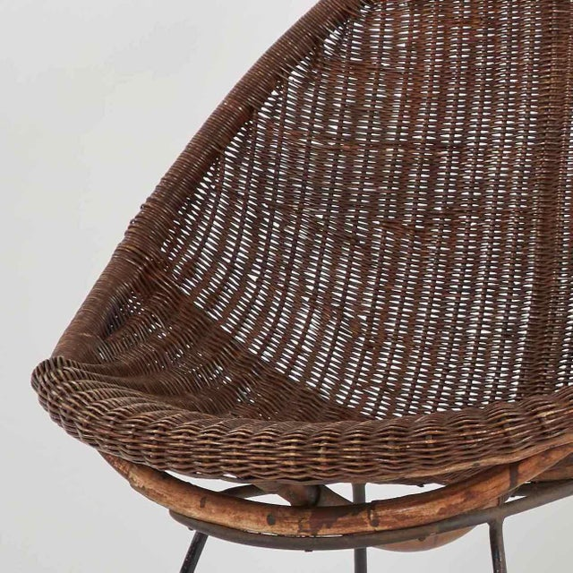 Mid-Century Bamboo and Rattan Chairs From France - a Pair For Sale - Image 4 of 6