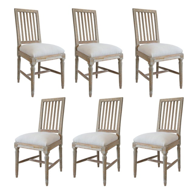 Six Swedish Dining Chairs For Sale - Image 11 of 11