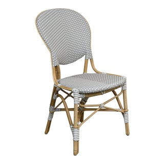 Sika Design Gray & White Rattan Side Chair